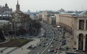 улица крещатик в Киеве, украина